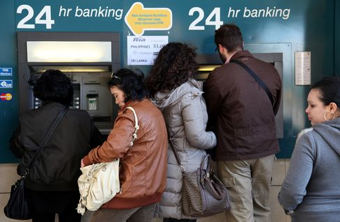 Scenes of Cypriots lining up at cash machines raised the specter of capital flight elsewhere and threatened to disrupt a market calm that