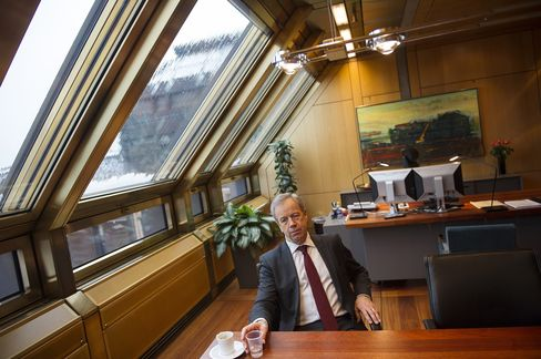 Norway's Central Bank Governor Oeystein Olsen