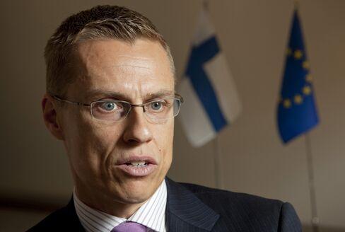 Finland's Europe Minister Alexander Stubb