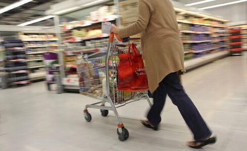 U.K. Inflation Slows Less Than Forecast on Alcohol, Food