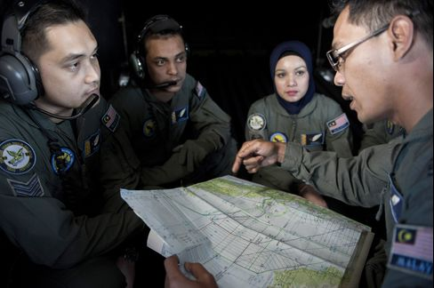 Malaysian Air Force Search for Malaysia Airlines Flight MH370