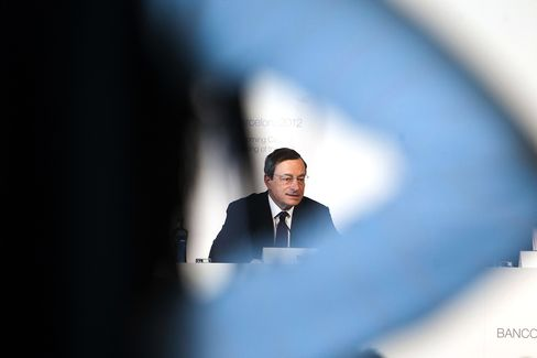 Draghi Says ECB Stands Ready to Act as Growth Outlook Dims
