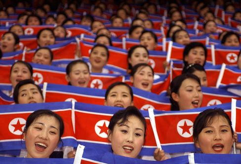 North Korean Cheerleaders