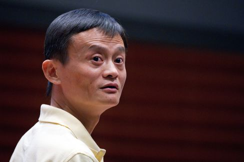 Jack Ma, chairman of Alibaba Group Holding Ltd. Photographer: David Paul Morris/Bloomberg