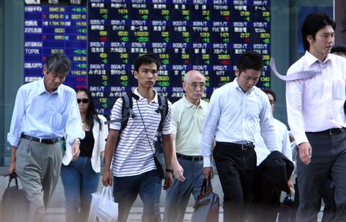 Japanese Stocks Fall Concern Yen Will Resume Strengthening