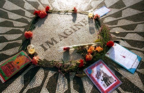 Lennon Memorial in Central Park