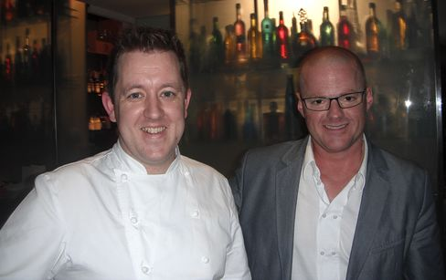 Ashley Palmer-Watts and Heston Blumenthal