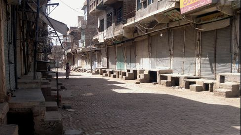 Empty Street in North Waziristan