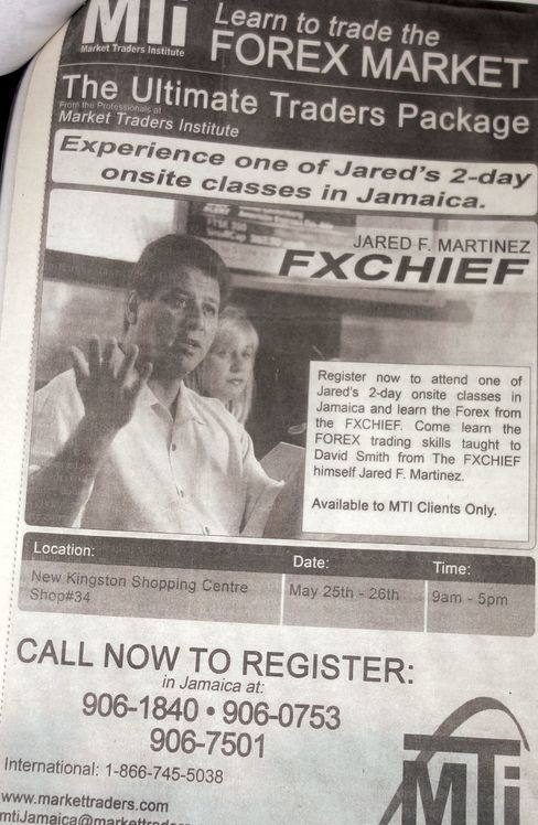 Advertising in Jamaican newspapers, Martinez invited investors to learn the same forex-trading skills he taught Smith.