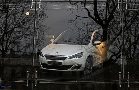 A Peugeot 308 Automobile Sits in Paris