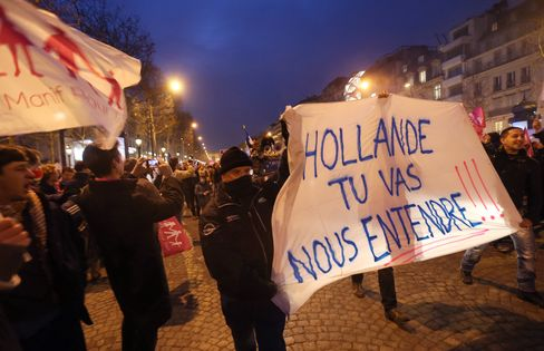 Anti-Gay-Marriage Protest Becomes Catch-All for French Gloom