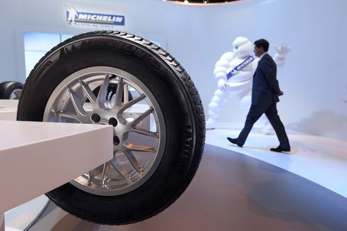 Michelin Gets Wintery Boost as Automakers Skid on Crisis