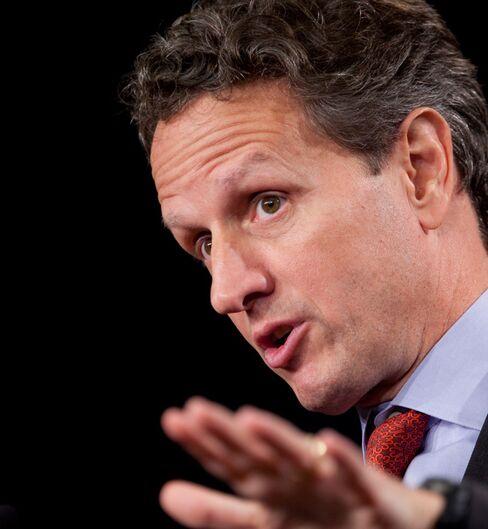 Geithner Says Dodd-Frank Opponents Add to Market Uncertainty