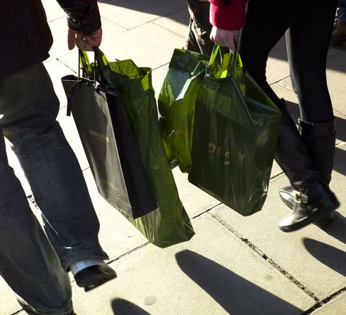 U.K. retail sales rise for third month