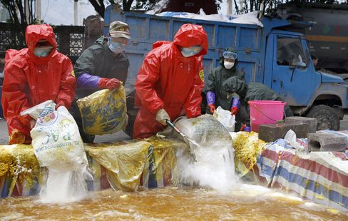 China Detains Seven People Over Toxic Metal Spill