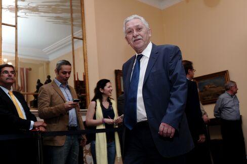 Greece's Democratic Left leader Fotis Kouvelis
