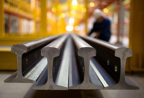 Mechel train rails