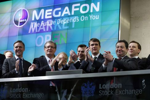 MegaFon Declines in First Day of Trading After $1.7 Billion IPO
