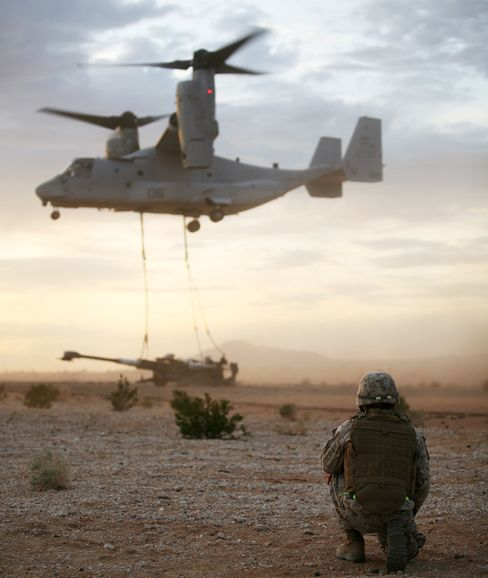 Marines Getting Fewer Osprey Tilt-Rotor Aircraft in Pentagon