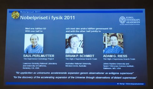 Scientists Win Physics Nobel for Dark Universe Discovery