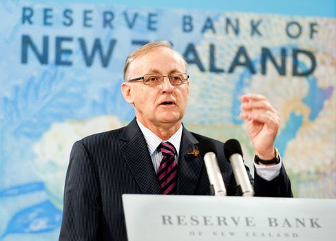 New Zealand Central Bank Governor Alan Bollard