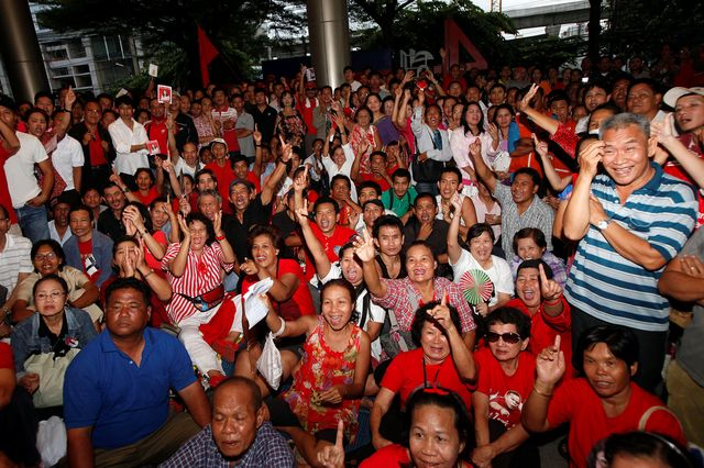Thaksin's Red Shirt supporters aren't going to surrender easily. Photographer: Dario Pignatelli/Bloomberg