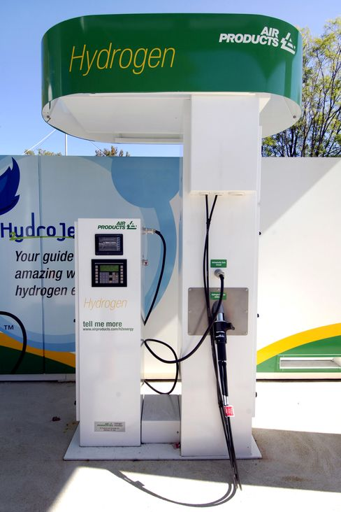 An Air Products & Chemicals hydrogen fueling station