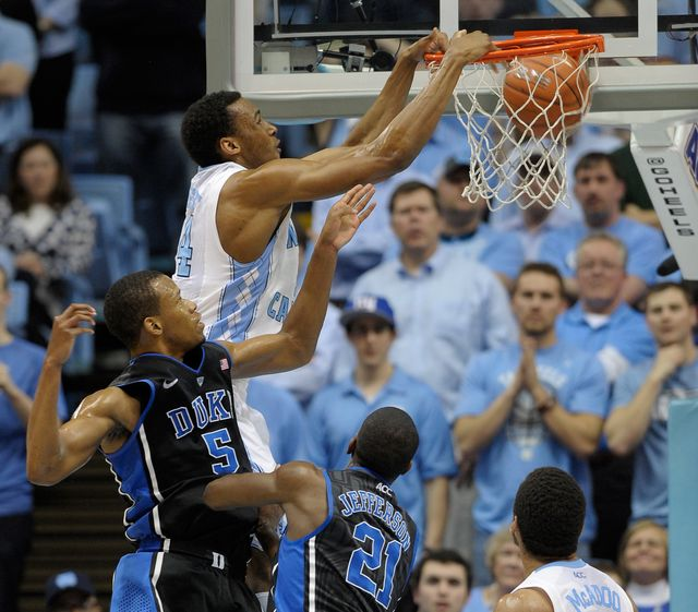 These guys won't be in the Final Four. Will they be in psychology class? Photographer: Grant Halverson/Getty Images