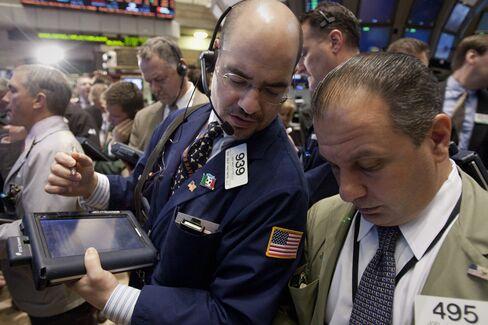 U.S. Stocks Trim Advance as Technology, Financial Shares Fall