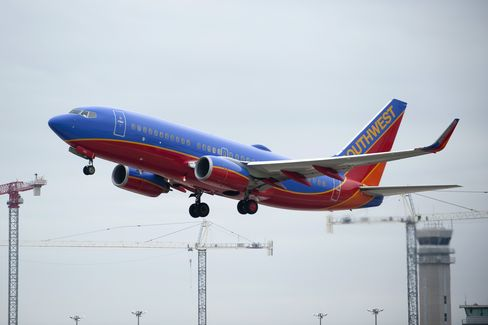 A Southwest Airlines Co. Boeing Plane Takes Off