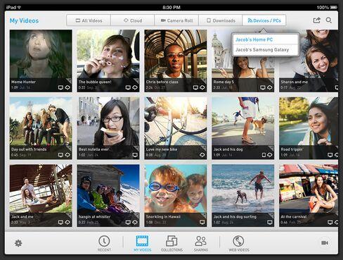 RealPlayer Cloud on Apple iPad