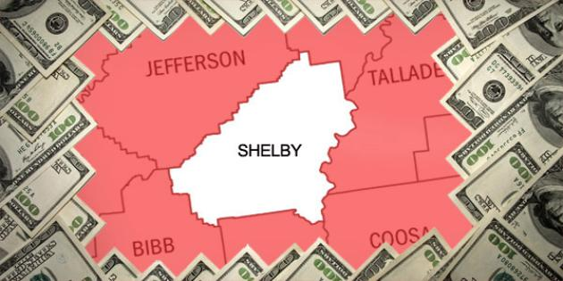 Most property tax paid in Alabama: Shelby County