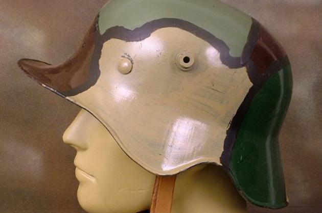 German camouflage helmets