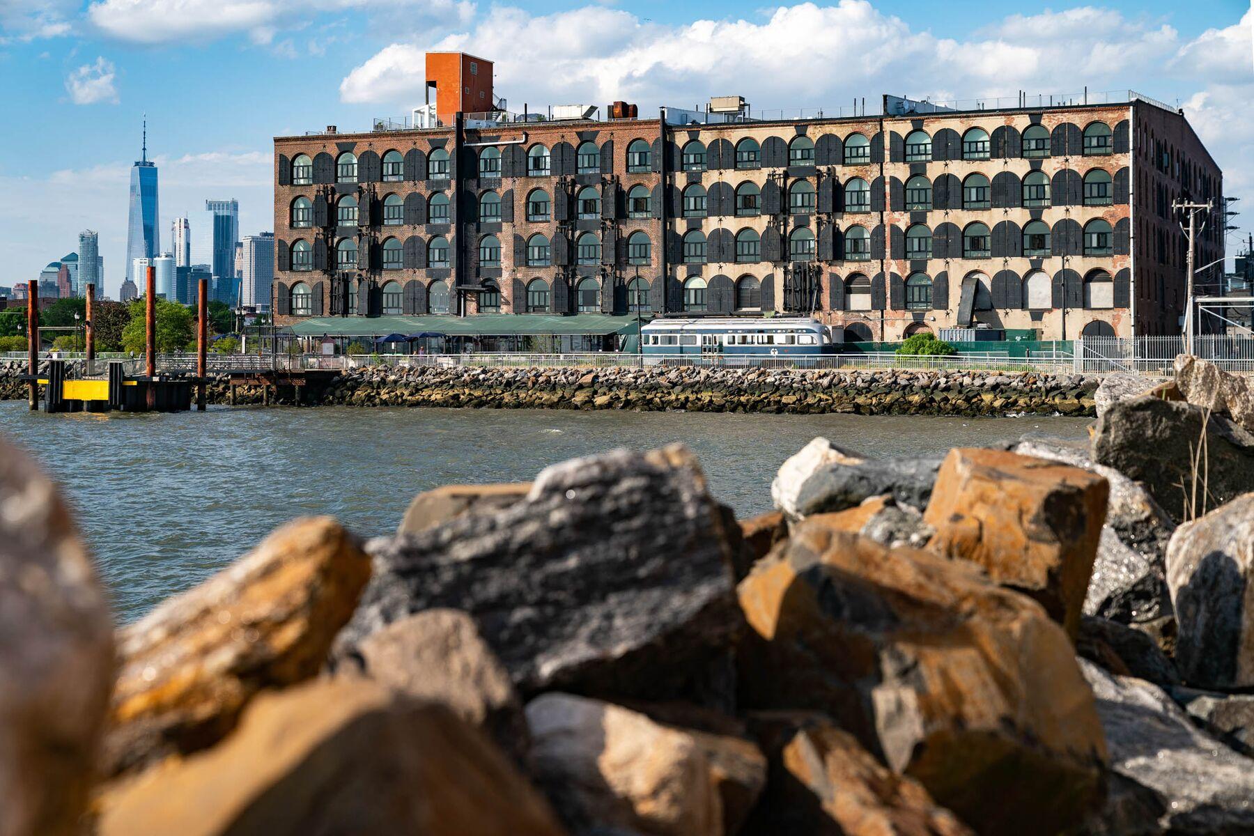 A waterfront building stands on Van Brunt Street in Red Hook, Brooklyn, N.Y. Photographer: Jeenah Moon/Bloomberg