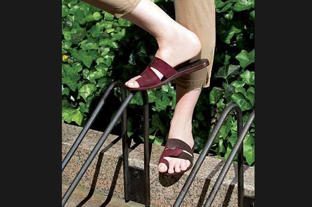 Interlocking strap sandals