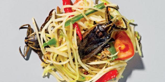 Waterbug Papaya Salad