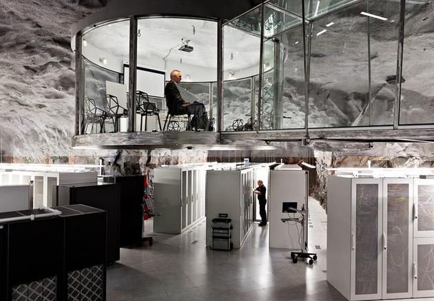Bahnhof's Office Bunker, by Lars Tunbjork