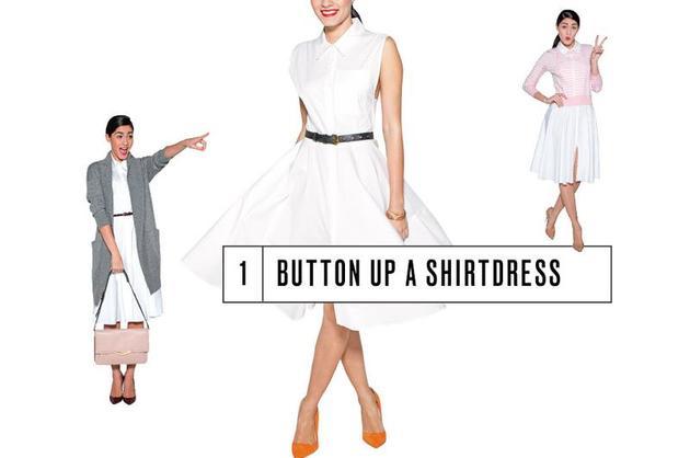 Button Up a Shirtdress