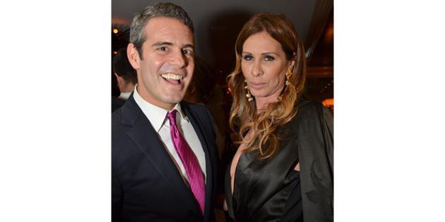 Andy Cohen and Carole Radziwill