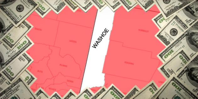 Most property tax paid in Nevada: Washoe County