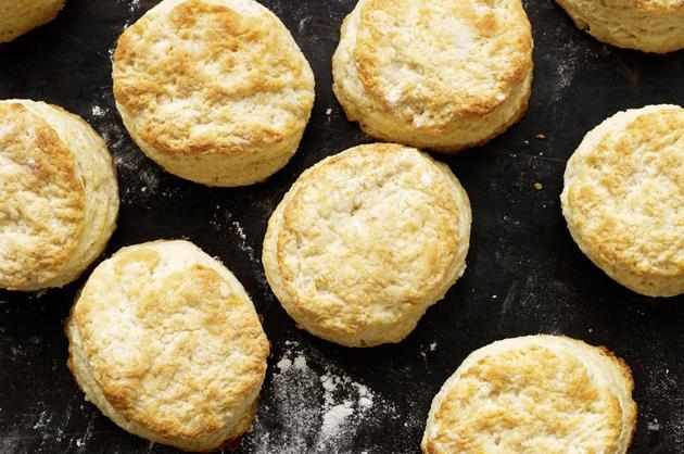 One buttermilk biscuit, cut in half