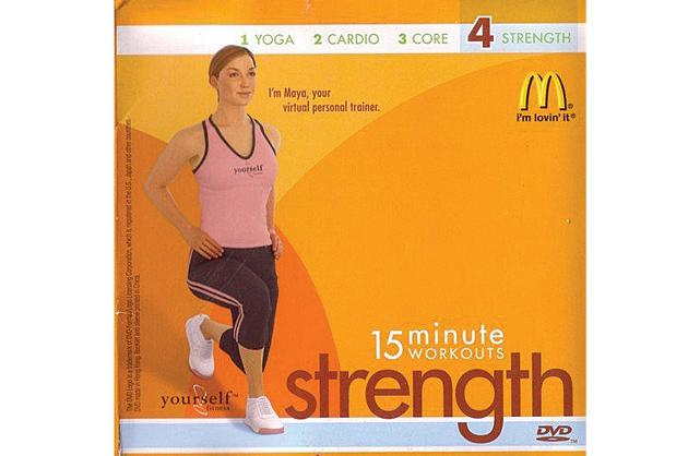 Disgusting: McDonald's 15 Minute Workout DVDs