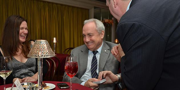 Fiona Waterstreet and Lorne Michaels