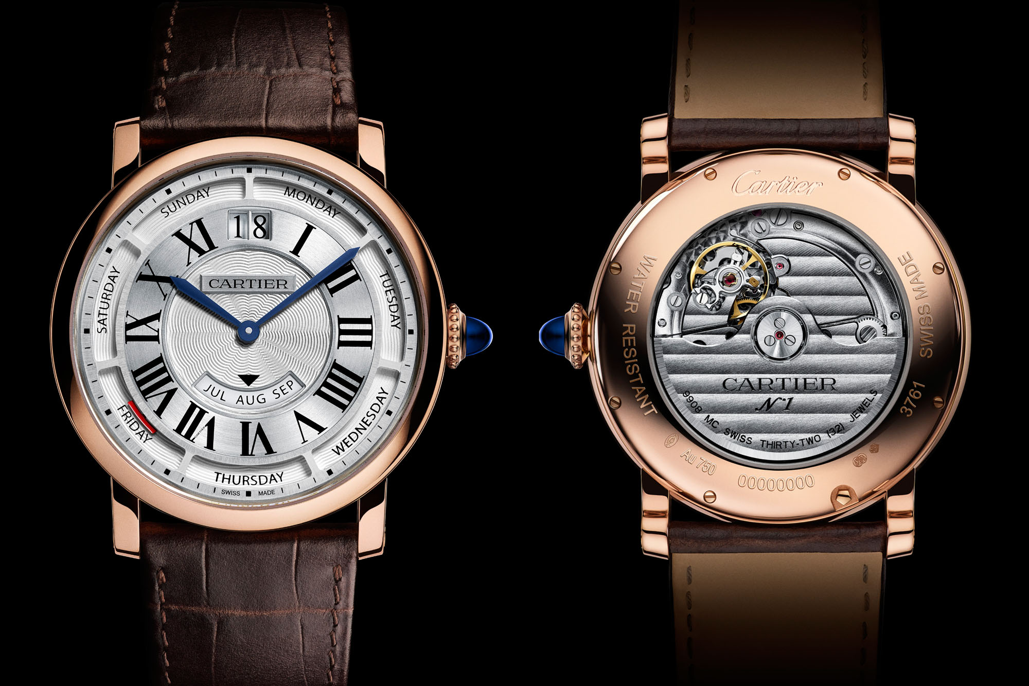 AAA Replique Montre Cartier Rotonde de Cartier Annual Calendar Pink Gold WHRO0002 De http://www.repliquesuisse.co/!