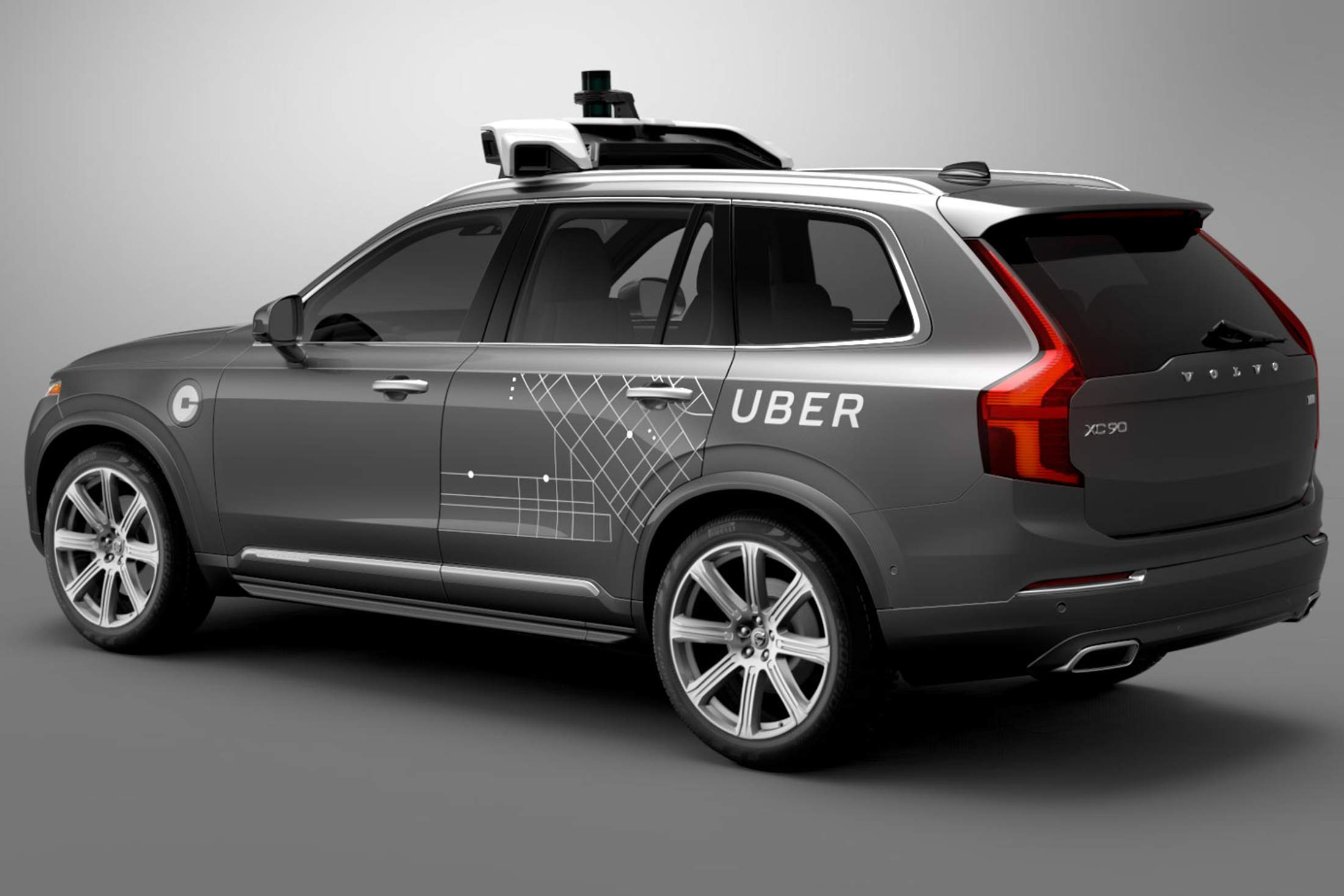 An Uber-Branded Volvo, part of the self-driving car experiments