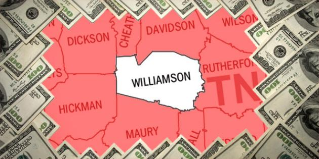 Most property tax paid in Tennessee: Williamson County