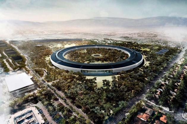 Apple's Campus 2, Cupertino, Calif., 2016