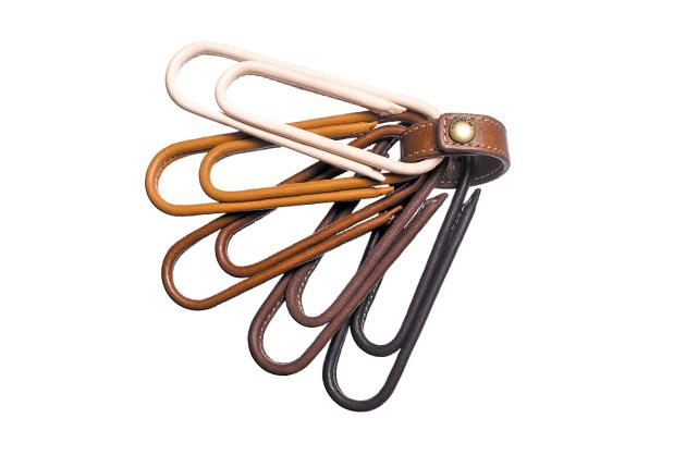 Coach Bleecker leather paperclip paperweight