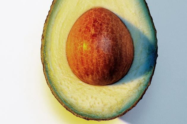A quarter of an avocado