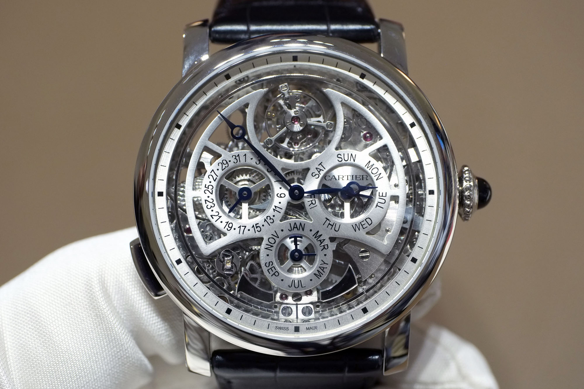 cartier grande complication skeleton replica watch